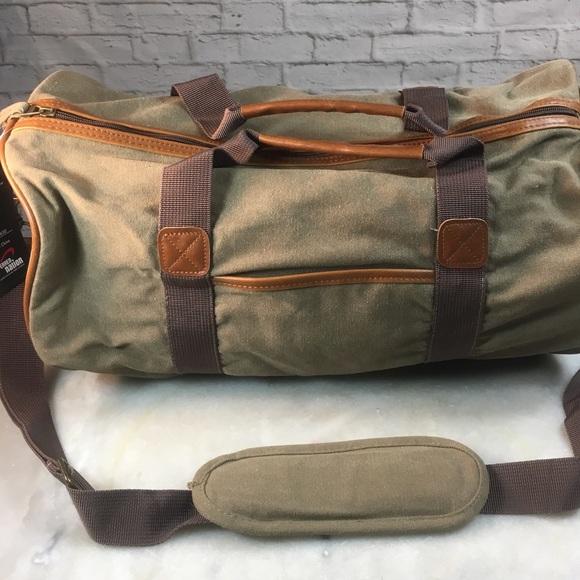 fdd4cb4890 NWT Preferred Nation Army Green Canvas Barrel Bag